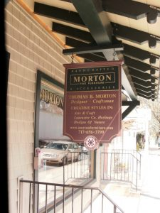 Morton Fine Furniture sign