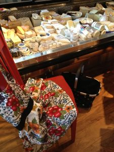 Red Chair at the cheese shop