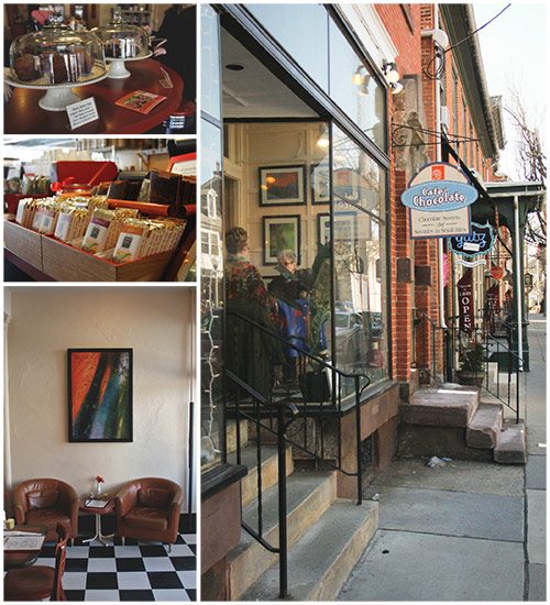 Cafe Chocolate in Downtown Lititz, Pa