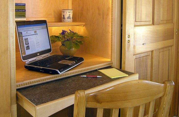 Emmental Room built-in desk at our Lititz bed and breakfast