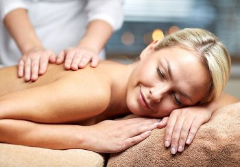 Woman enjoying a body massage