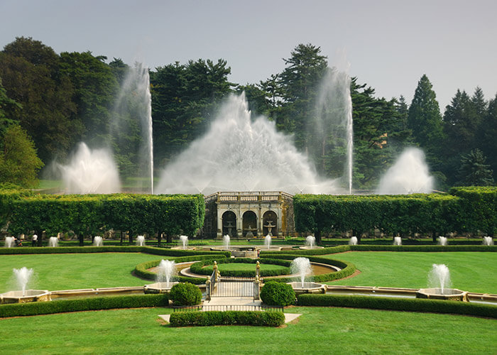 Longwood Gardens fountains in Lancaster county