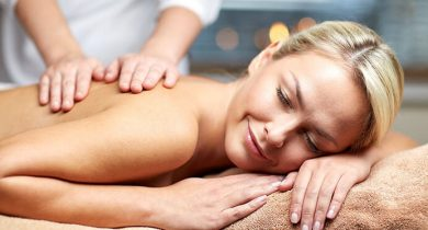 Woman enjoying a massage in Lancaster County PA