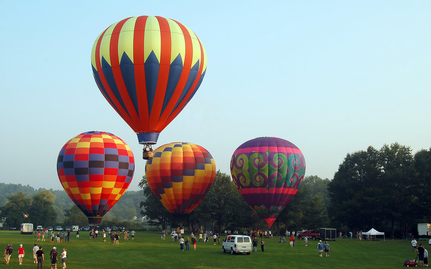 Hot air balloons in Lancaster County